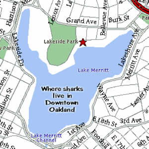 Map of lake Merritt